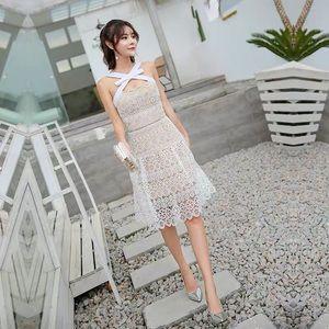 Self portrait style white dress size M. NOT SP